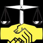 весы как символ юриспруденции и рукопожатие
