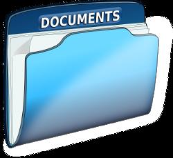голубая папка под документы