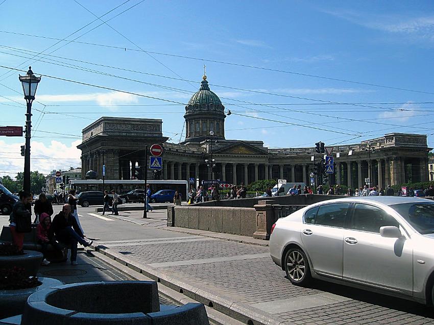 вид на храм в Казани